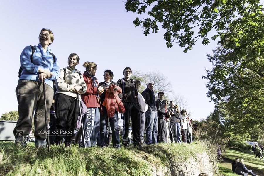 Les Spectateurs à l'arrivée de la Course de l'Ours 2014