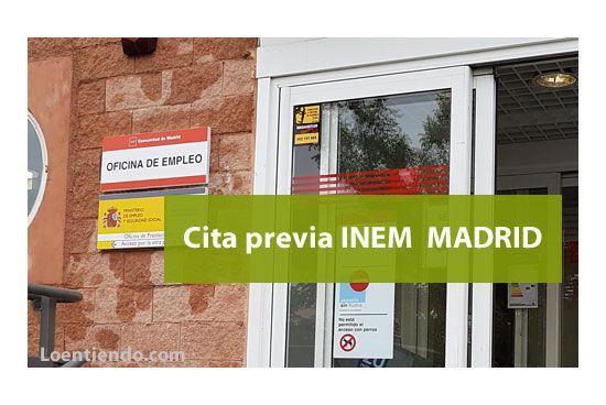 Cita previa inem madrid inem 2019 loentiendo - Oficinas inem madrid ...