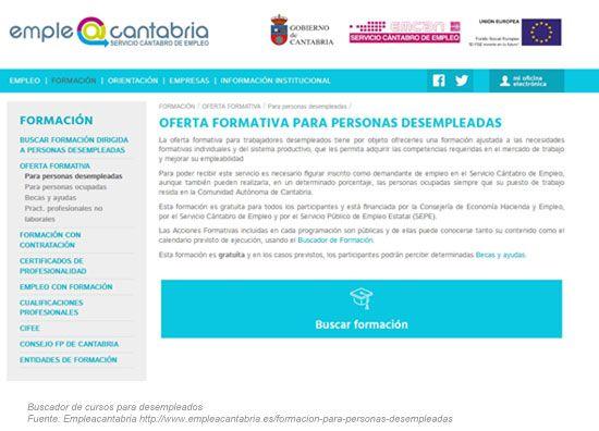 Buscador de Cursos para Desempleados Cantabria 2019