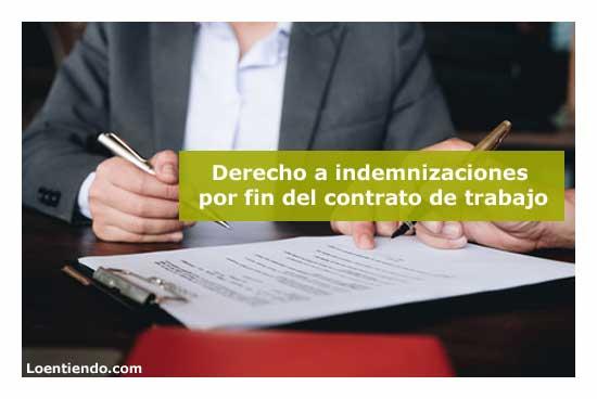 Las indemnizaciones por fin del contrato de trabajo