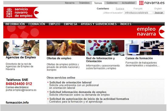 Cómo sellar el paro por internet en Navarra