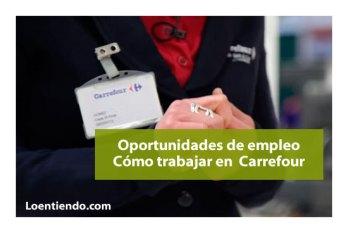 Cómo trabajar en Carrefour