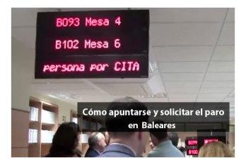 Apuntarse y solicitar el paro en Baleares