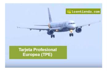 Tarjeta profesional europea (TPE)