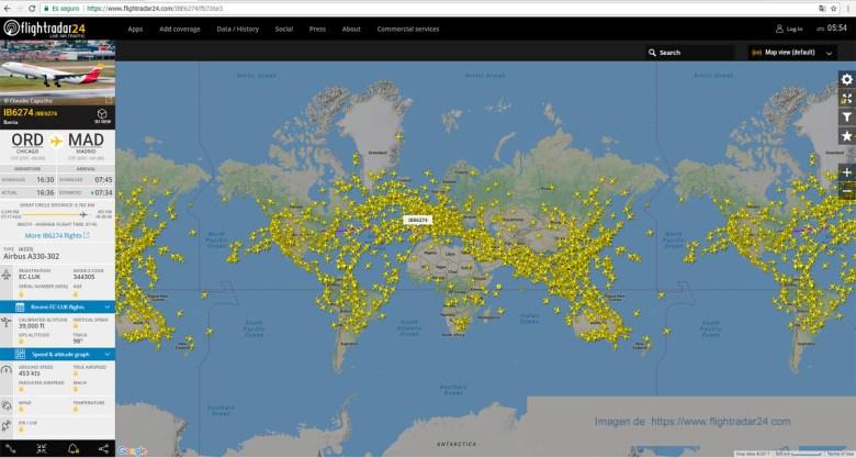 seguimiento de vuelos online