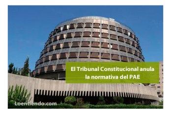Constitucional anula normativa PAE