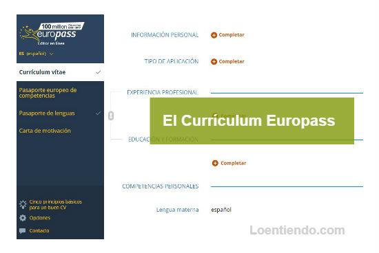 Europass. Buscar empleo en la Unión Europea