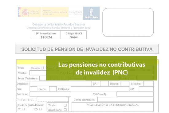 Las pensiones no contributivas de invalidez