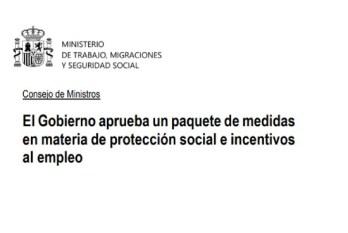 Real Decreto de mejora empleo y protección social