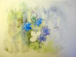 Blüten im Vordergrund weiter ausgearbeitet