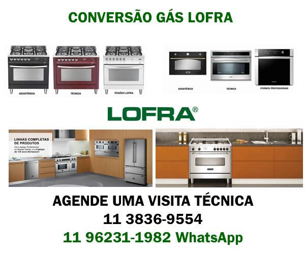 Conversão fogão Lofra