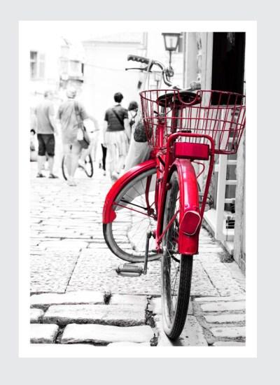 plakat amsterdam plakat A2, A3 czerwony rower z Amsterdamu - internetowy sklep z plakatami