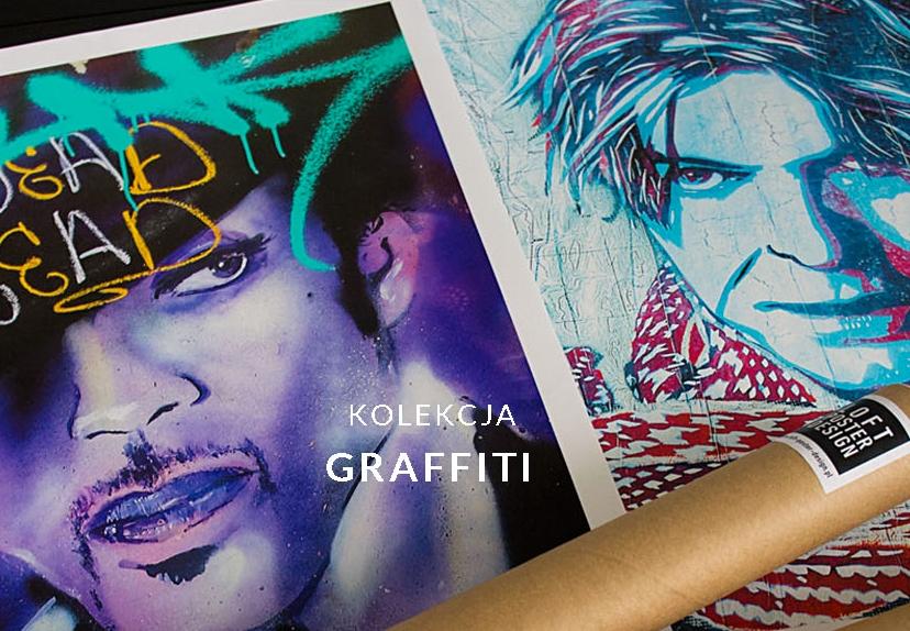 Plakaty Graffiiti Plakaty streetart to żywa sztuka ulicy przeniesiona do naszych mieszkań. Tyle ilu autorów tyle możliwych technik i tematów.
