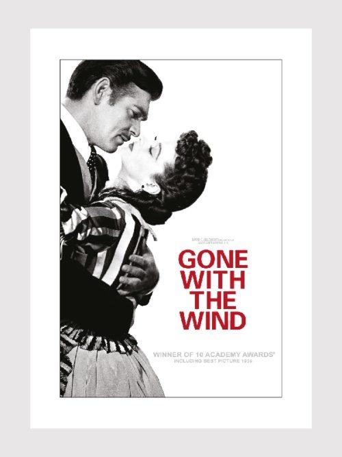 """Plakat filmowy """"Przeminęło z wiatrem"""" Plakaty filmowe z kina retro Plakaty filmowe na ściany do salonu"""