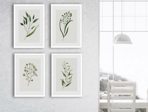 plakat minimalizm rosliny dekoracja plakat do domu do salonu w ramie