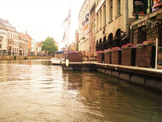 Korenlei y Grasslei, Canales en Gante