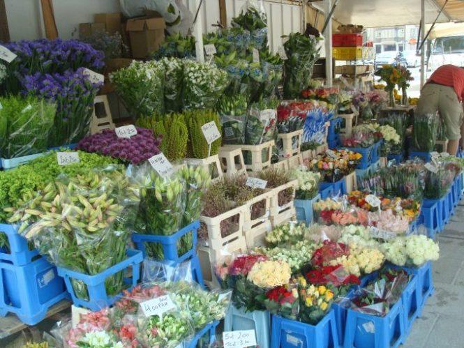 Flores alegran las calles y los mercados en Gante
