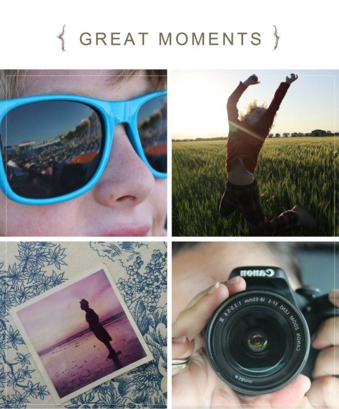 Grandes momentos en un collage