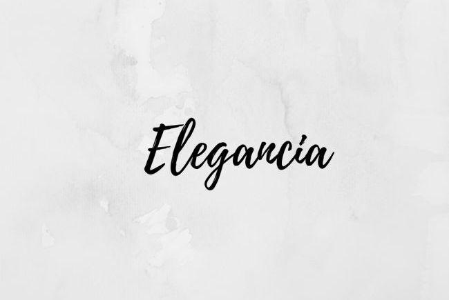 Elegancia, una bonita palabra en la mesa