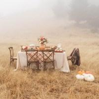 Cómo montar un mesa otoñal en el campo