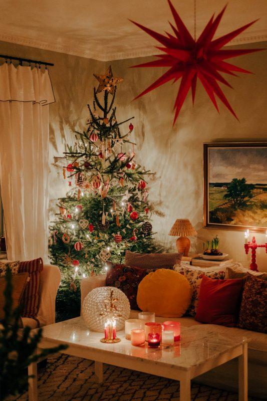 Rojo nórdico en tu hogar