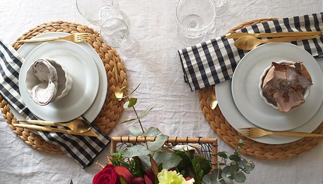 Una mesa sencilla pero elegante