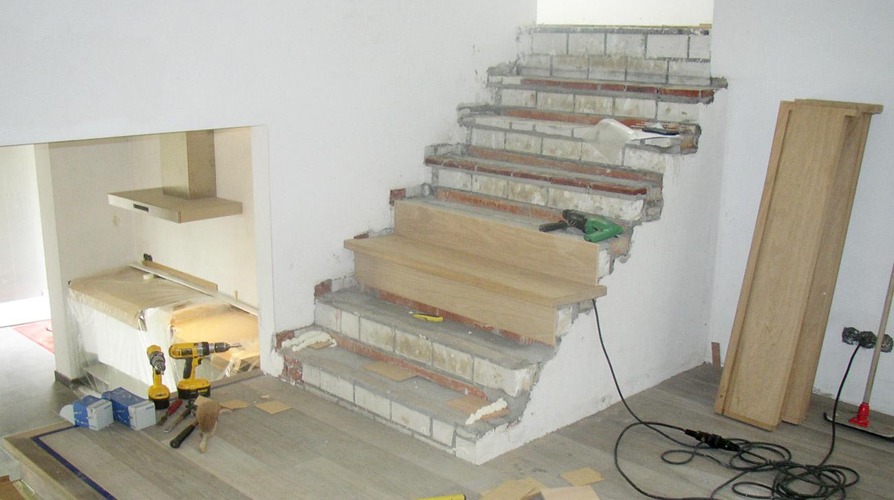 Eigen huis inspiratie betonnen trap bekleden met tapijt