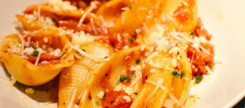 Pâtes à la saucisse italienne…