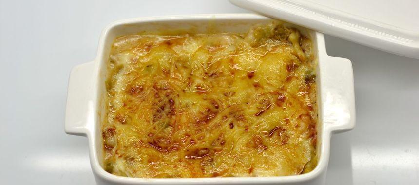 Lasagne aux pleurotes, jambon cru, crème de parmesan