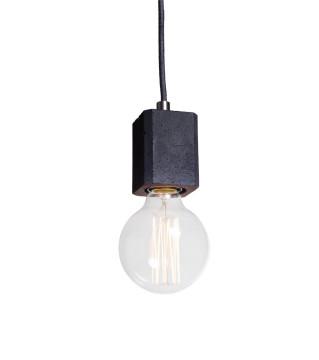 Lampa betonowa Kalla Quadro - kolor czarny