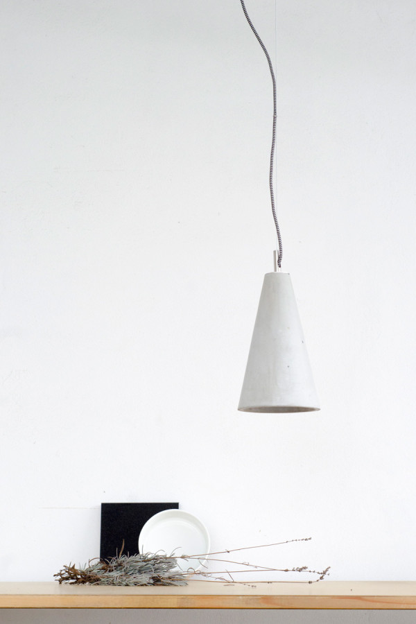 Lampa betonowa KOBE 2 - kolor naturalny