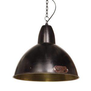 Lampa industrialna Salina w kolorze Black Gun - czarnym