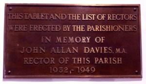 Rector Davies Memorial