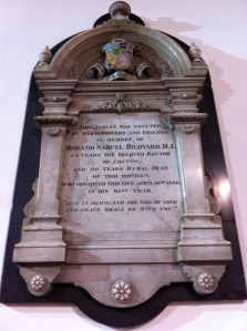 Rector Hildyard's Memorial
