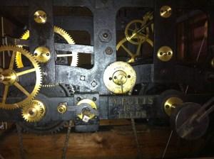 The restored Clock Mechanism of 1870 St Leonard's Church Loftus.