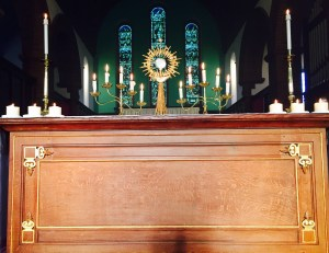 Special prayers were said before the Blessed Sacrament at Evensong and benediction at Saint Helen's Church Carlin How on Sunday 8th May 2016