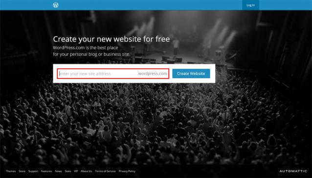 WordPress.com(英語版)