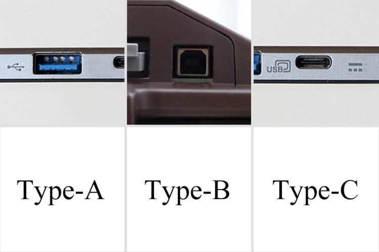 USBコネクタの形状の違い