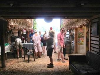 visitors in market barn