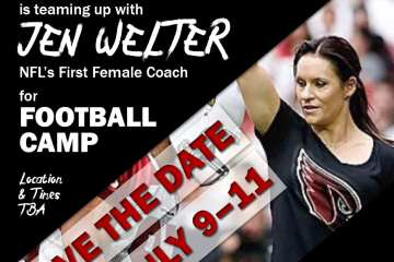 Jen Welter Football Camp
