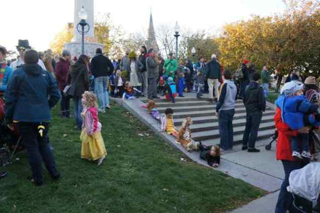 Halloween's a Blast for New Parents in the Square