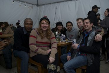 Neighbors at the January Meetup at Boiler Room