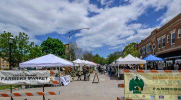 The Logan Square Farmers Market. Photo: Elisa Fritz