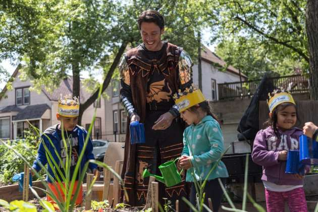 Medieval Times Royalty Garden With Preschoolers for National Gardening Week