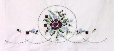 Purple Rose Bouquet Pillowcase