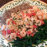 Summer Shrimp with Fresh Corn, Tomatoes, and Basil {A Recipe}