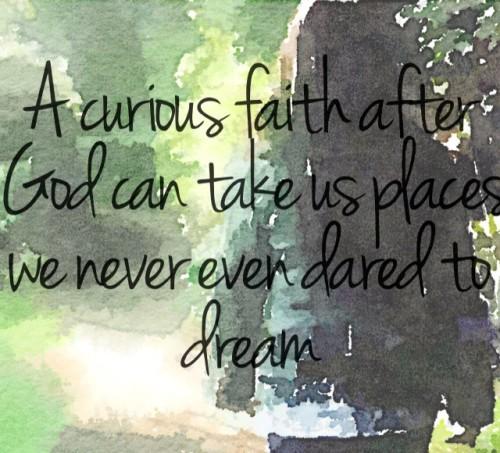 Curious Faith watercolor