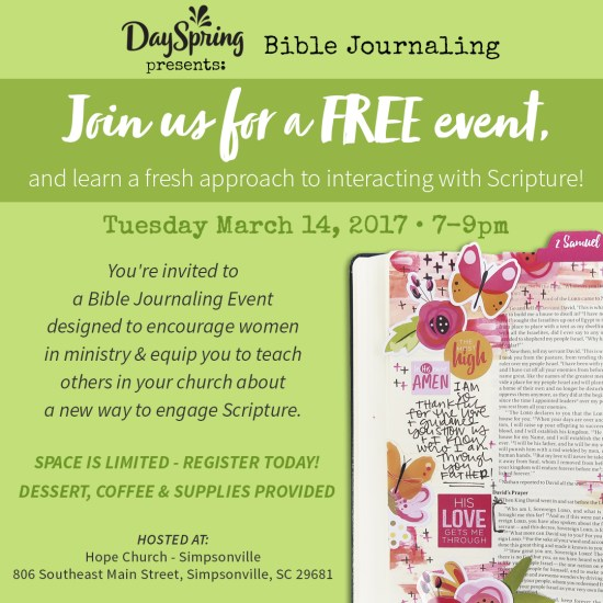 You're Invited to an Evening of Bible Journaling