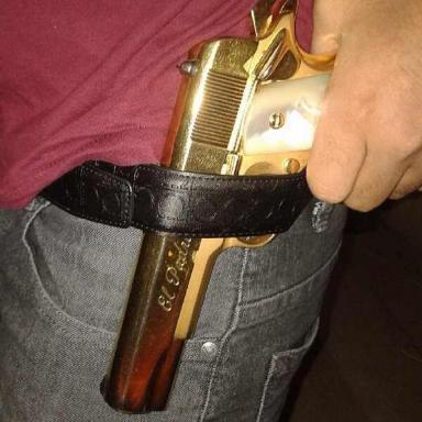 Gold plated gun from 'El Mayo' Zambada