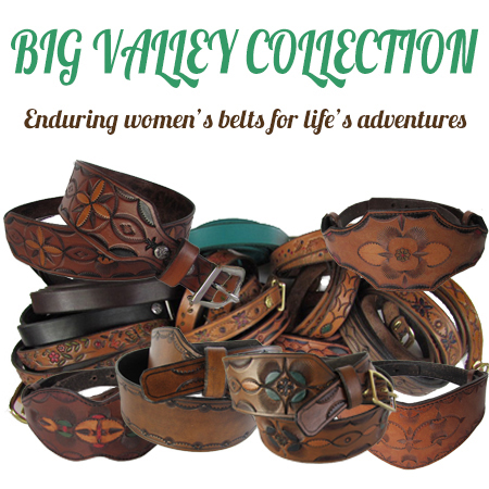 Women's designer leather belts